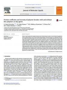 Friction coefficient and viscosity of polymer brushes