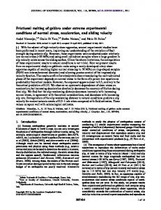 Frictional melting of gabbro under extreme ... - Wiley Online Library