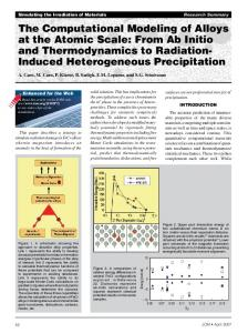 From Ab Initio and Thermodynamics to Radiation