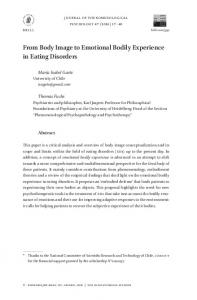 From Body Image to Emotional Bodily Experience in Eating Disorders