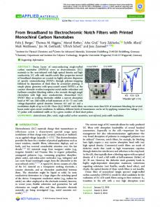 From Broadband to Electrochromic Notch Filters ... - ACS Publications