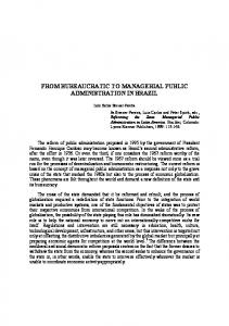 from bureaucratic to managerial public administration in brazil