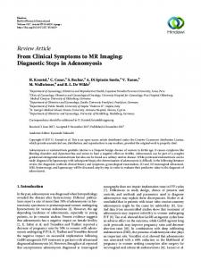From Clinical Symptoms to MR Imaging: Diagnostic Steps in