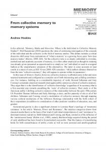 From collective memory to memory systems