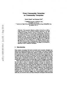 From Community Detection to Community Deception