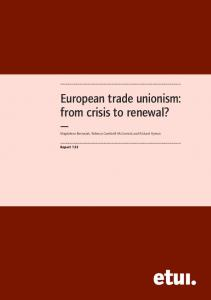 from crisis to renewal? - European Trade Union Institute (ETUI)
