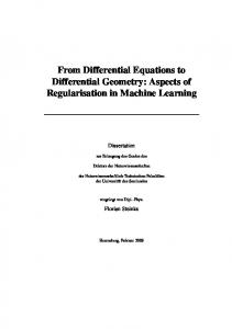From Differential Equations to Differential