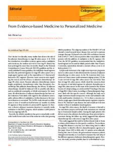 From Evidence-based Medicine to Personalized ... - Semantic Scholar