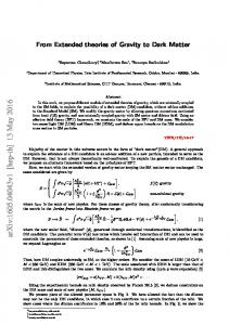 From Extended theories of Gravity to Dark Matter
