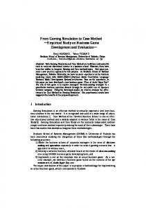 From Gaming Simulation to Case Method