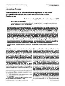 From green to blue: Sitedirected mutagenesis of ... - Wiley Online Library