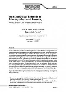 From Individual Learning to Interorganizational