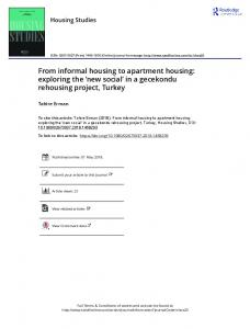 From informal housing to apartment housing