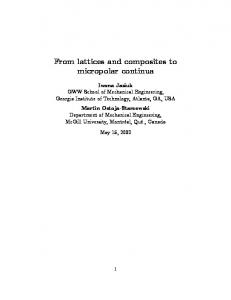 From lattices and composites to micropolar continua