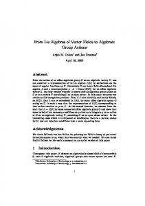From Lie Algebras of Vector Fields to Algebraic Group Actions