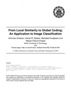 From Local Similarity to Global Coding; An Application to ... - CiteSeerX