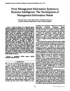 From Management Information Systems to Business Intelligence ...