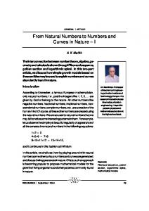 From Natural Numbers to Numbers and Curves in