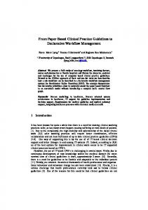 From Paper Based Clinical Practice Guidelines to
