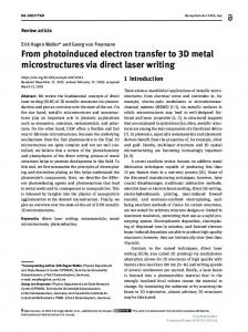From photoinduced electron transfer to 3D metal