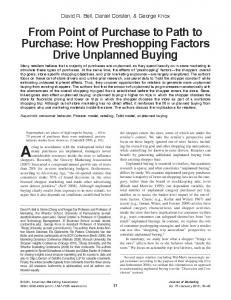 From Point of Purchase to Path to Purchase: How ... - CiteSeerX