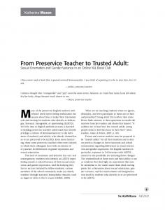 From Preservice Teacher to Trusted Adult