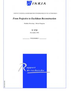 From Projective to Euclidean Reconstruction - CiteSeerX