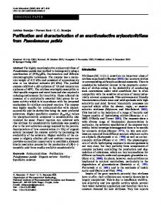 from Pseudomonas putida - Springer Link