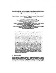From ranking to intransitive preference learning: rock-paper-scissors ...