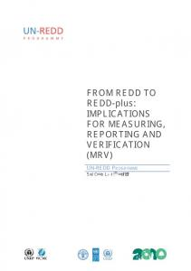 FROM REDD TO REDD-plus: IMPLICATIONS FOR ...