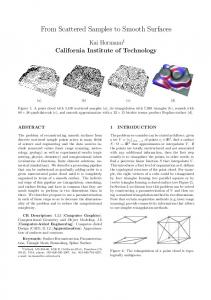 From Scattered Samples to Smooth Surfaces - Caltech Multi-Res ...