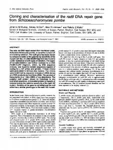 from Schizosaccharomyces pombe - BioMedSearch