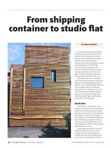 From shipping container to studio flat - Deep Green Building Design