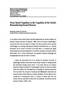 From Social Cognition to the Cognition of the Social ... - LSE