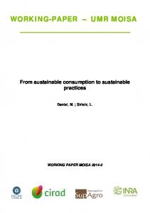 From sustainable consumption to sustainable practices