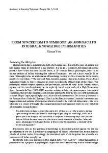 from syncretism to symbiosis: an approach to integral ...