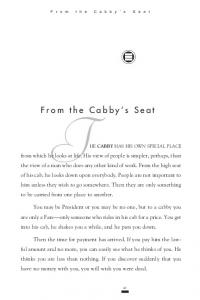 From the Cabby's Seat T - American English