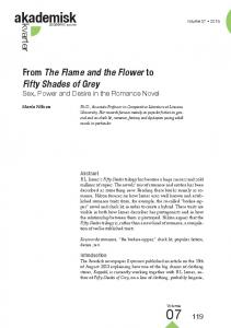 From The Flame and the Flower to Fifty Shades of Grey. Sex, Power