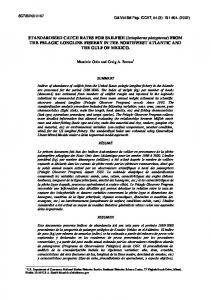 FROM THE PELAGIC LONGLINE FISHERY IN THE ... - iccat