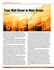 From Wall Street to Main Street - Lewis Roca Rothgerber