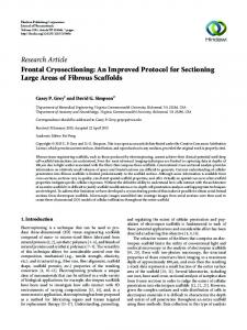 Frontal Cryosectioning: An Improved Protocol for Sectioning Large ...