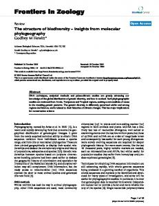 Frontiers in Zoology - BioMedSearch