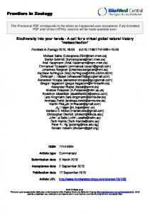 Frontiers in Zoology - iDigBio