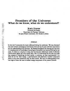 Frontiers of the Universe: What do we know, what do we understand?