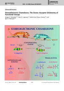 Frontispiece: Stereoelectronic Chameleons: The Donor–Acceptor ...