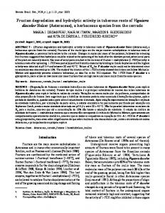 Fructan degradation and hydrolytic activity in