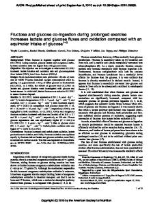 Fructose and glucose co-ingestion during prolonged ... - CiteSeerX