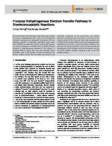 Fructose Dehydrogenase Electron Transfer ... - Wiley Online Library