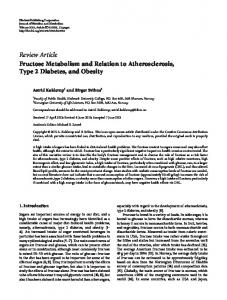 Fructose Metabolism and Relation to Atherosclerosis, Type 2 Diabetes ...