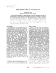 Frustration: Theory and practice